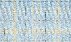 Winter jackets. Geometric patterns in fabrics. Virgin wool extra fine. Light blue with Brown cross. Glenurquhart check is made of cashmere. Traditional Scottish Glen plaid