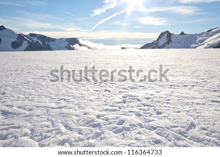 Winter landscape at Mountain Cook National Park New Zealand #116364733