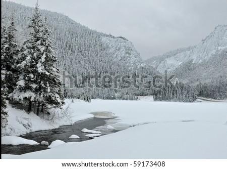 Winter landscape, Crawford Notch, NH