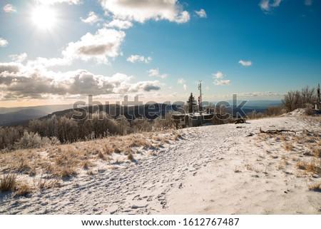winter landscape from Nagy-Hideg hegy in Hungary Stock fotó ©
