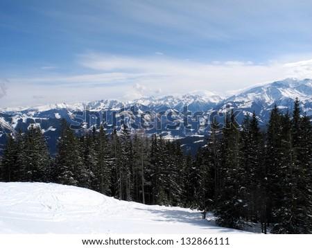Winter landscape in Austria Zdjęcia stock ©