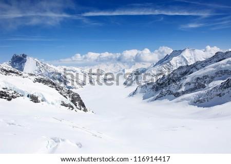 Winter landscape in the Jungfrau region #116914417