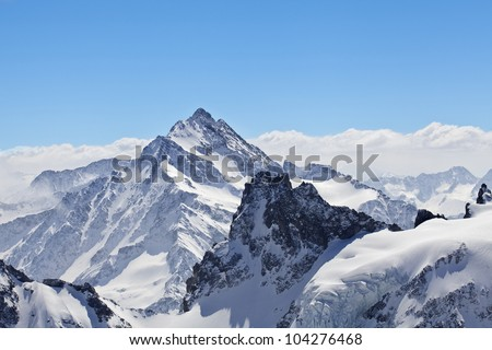 Winter landscape in the Matterhorn