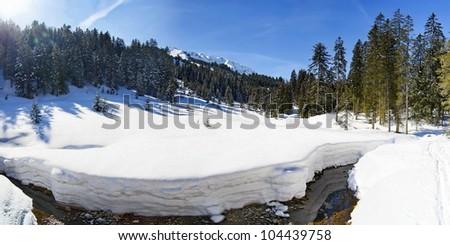 winter landscape Kleinwalsertal