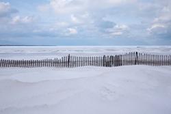 Winter landscape near Lake Huron