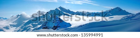 Winter landscape - Panorama of the mountains #135994991