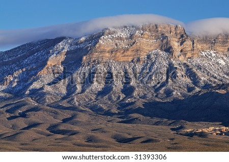 Winter landscape Wilson Cliffs, Red Rock Canyon, Las Vegas, Nevada, USA