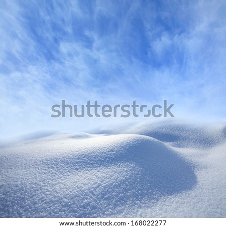 winter landscape with empty space for text