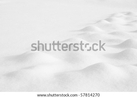 Winter landscape with hills covered with snow