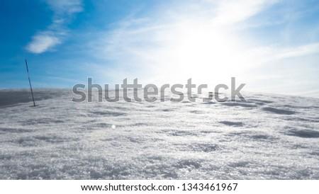 winter minimalistic landscape #1343461967