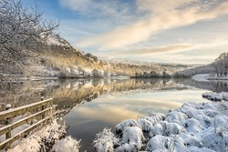 Winter morning at Rydal, in the English Lake District