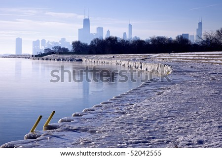 Winter morning in Chicago, Illinois.