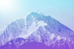 Winter mountain peak