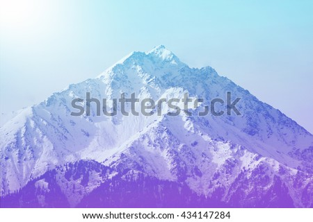 Winter mountain peak