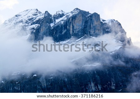 Winter moutains with snow.