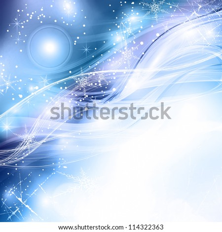 Winter night. An abstract soft celebratory background. Rasterized version