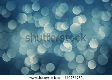 Winter night blurred bokeh background - stock photo