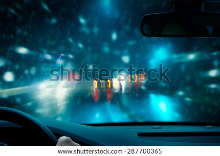 Winter Night Driving