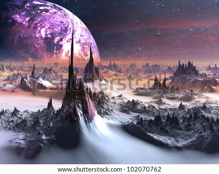 Winter on Distant Purple Planet