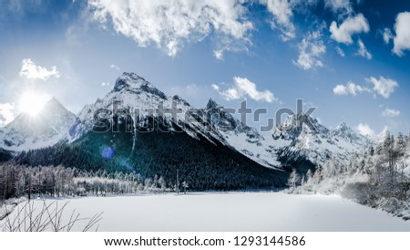 Winter Outdoor Landscape #1293144586