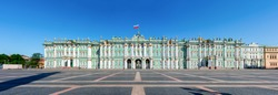 Winter Palace (Hermitage museum) on Palace square, Saint Petersburg, Russia