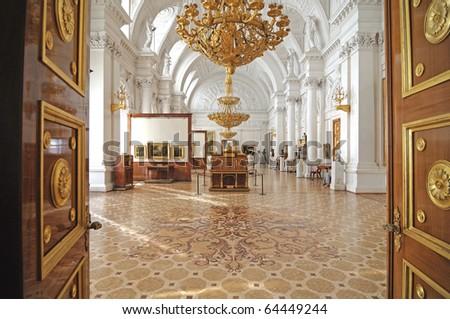 Winter palace. interior. gallery of arts