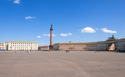 Winter Palace Square in Staint Petersburg, Russia