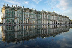 Winter Palace. The State Hermitage Museum. Reflection.