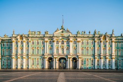 Winter palace with hermitage in Saint Petersburg