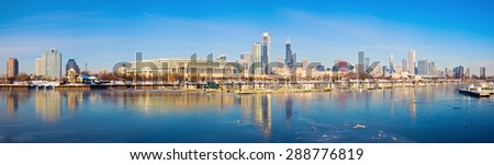 winter panorama of chicago from ...
