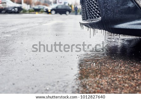 Winter parking lot #1012827640