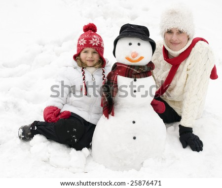 Winter portrait - stock photo