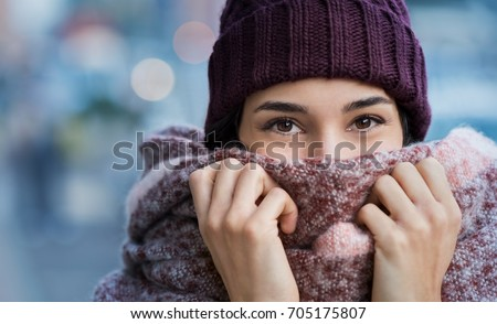 winter portrait of young...