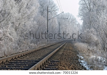 winter railroad