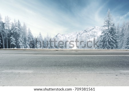 winter road  #709381561