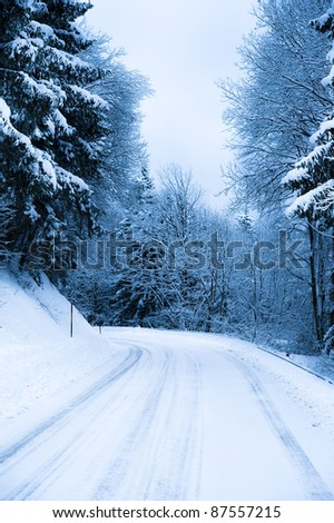 Winter Road, just after the snow fall