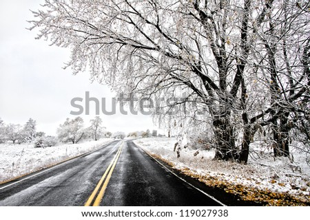 Winter road way