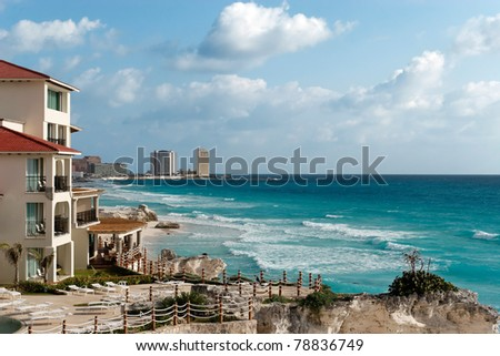 Winter's pretty warm on Cancun's beaches