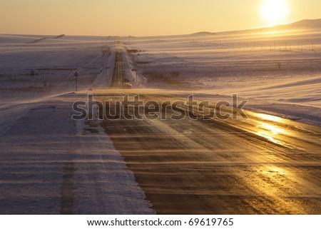 winter scene in the northeast of china