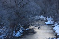Winter scenery in Nishiwaga Town, Iwate Prefecture