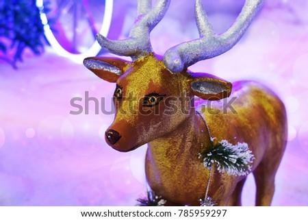 winter season deer #785959297