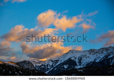 Winter Serra Del Cadi in La Cerdanya, Pyrenees, Spain Zdjęcia stock ©