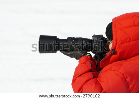 winter shoot  (focus point on the telephoto lens)