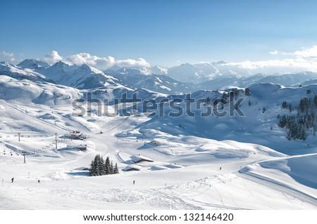 winter, ski