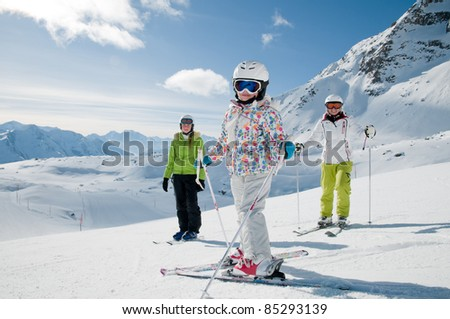 Winter, ski sun and fun - happy ski team