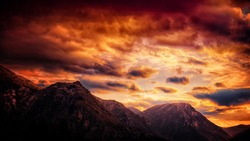 winter skies on fire