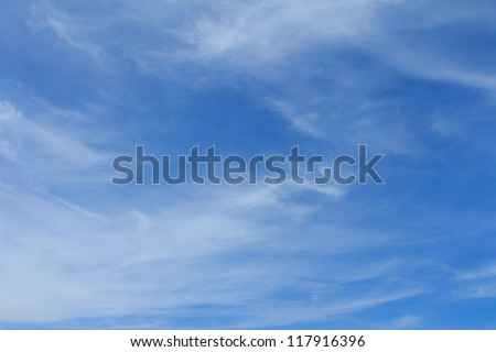 Winter sky with some cloud (cirrus)