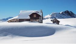 Winter Sleep in Swiss Alps