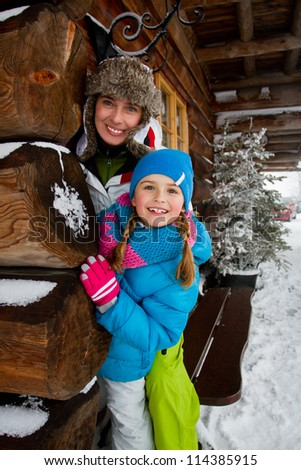 Winter, snow, apres ski - family fun at winter time