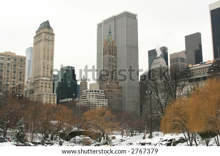 central park new york winter. in Central Park, New York